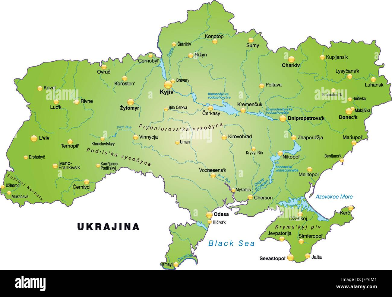 Card Outline Ukraine Borders Atlas Map Of The World Map Stock