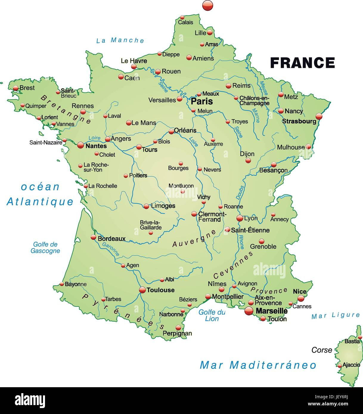 france, card, outline, borders, atlas, map of the world, map ...