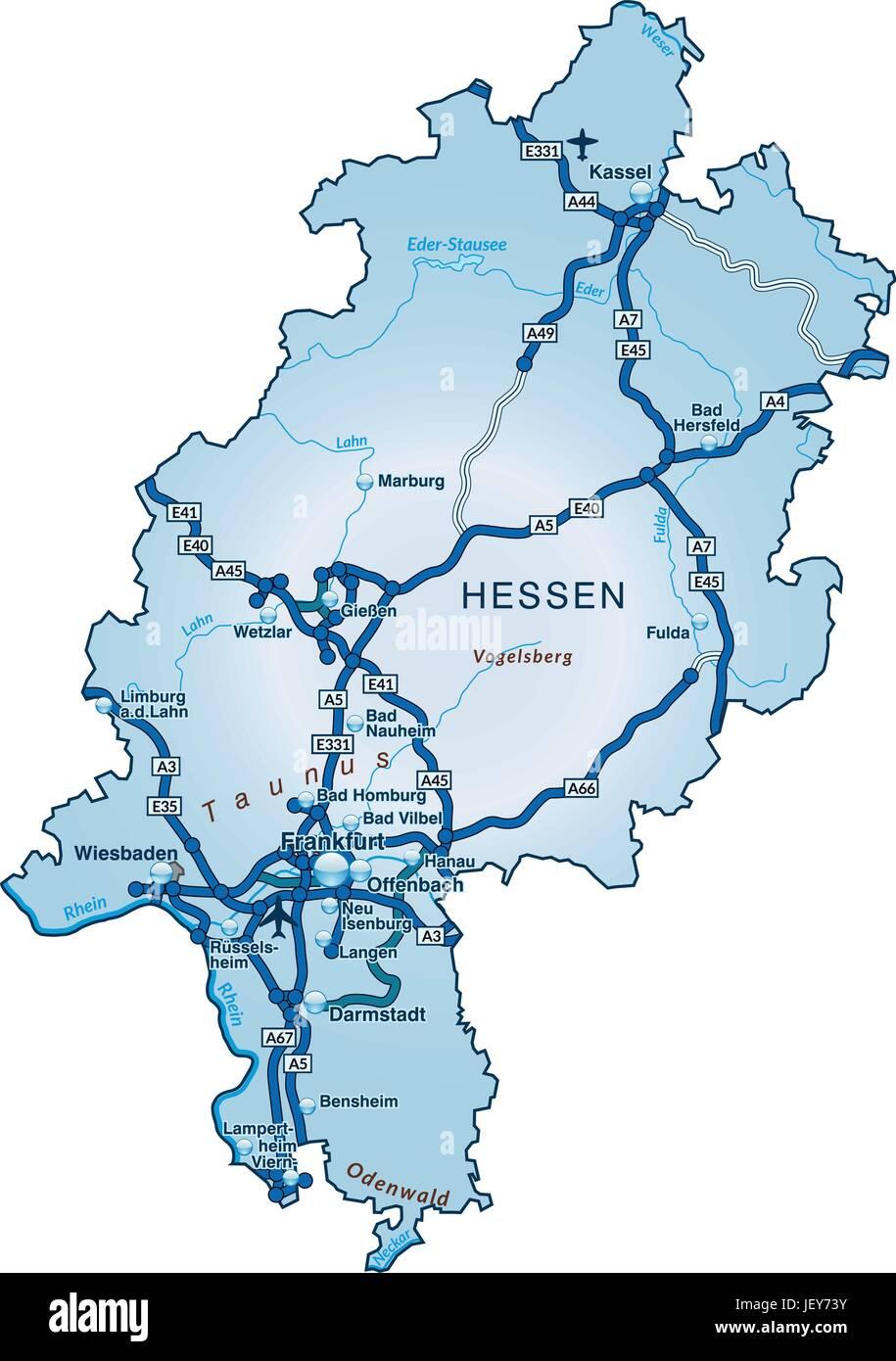 Traffic Transportation Hesse Motorway Highway Card State