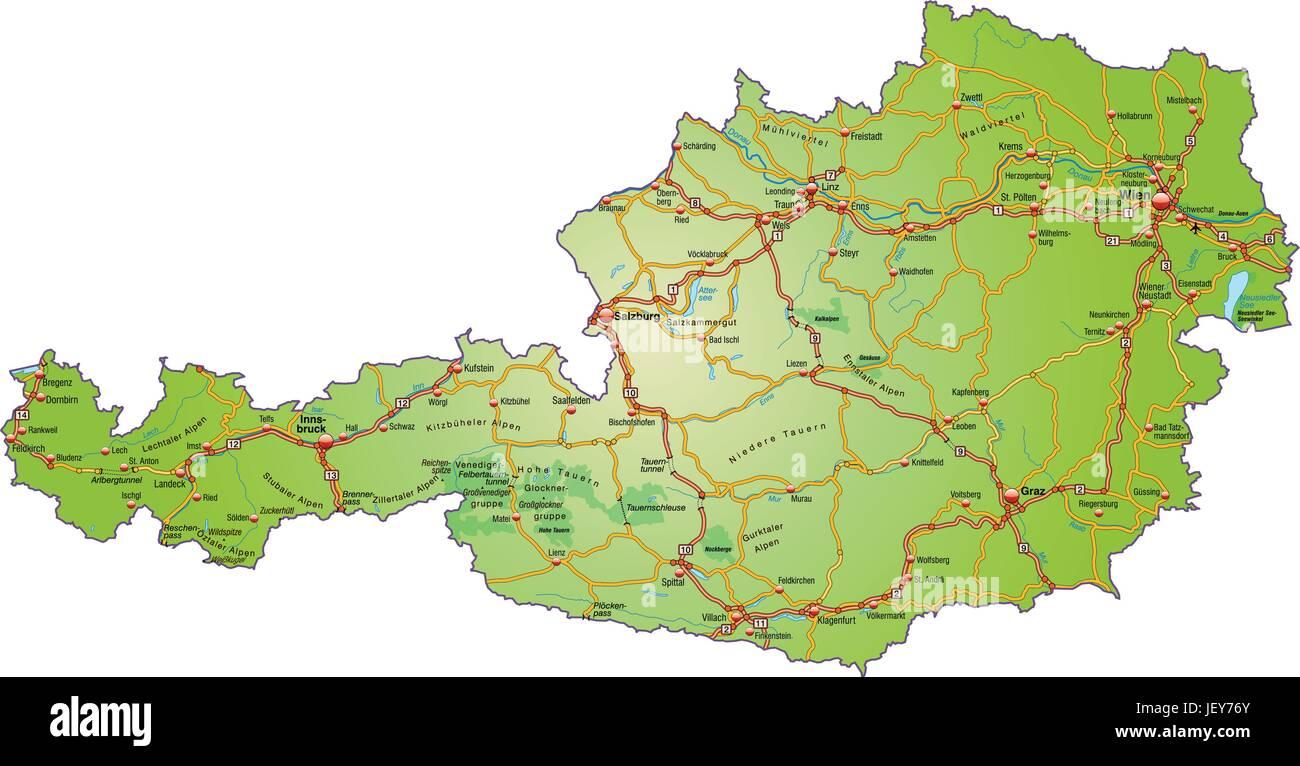 Traffic Transportation Austrians Austria Motorway Highway Card