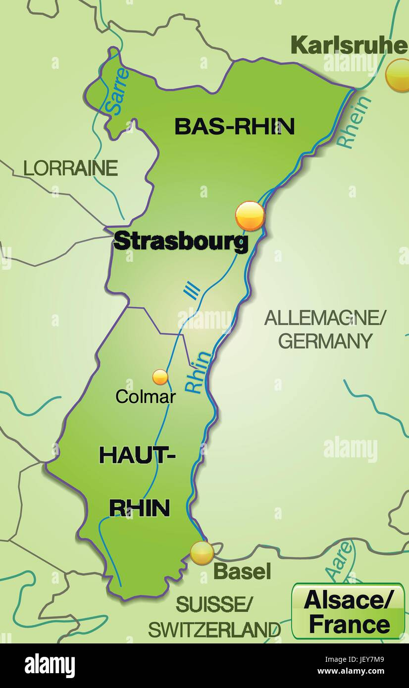 Map Of Germany France Border.Map Of Alsace Stock Photos Map Of Alsace Stock Images Alamy