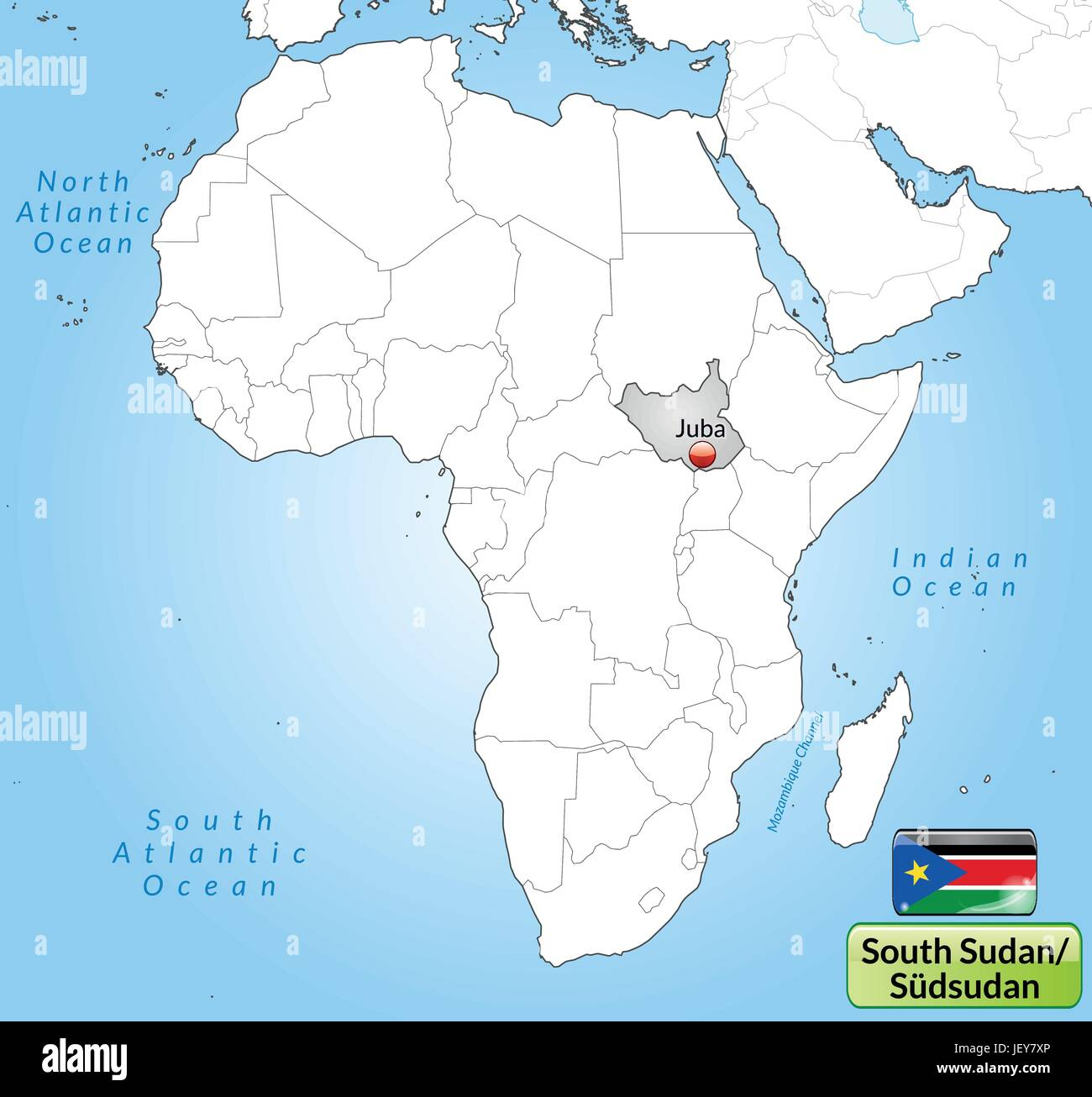 South Sudan Map Stock Photos & South Sudan Map Stock Images - Page 2 ...