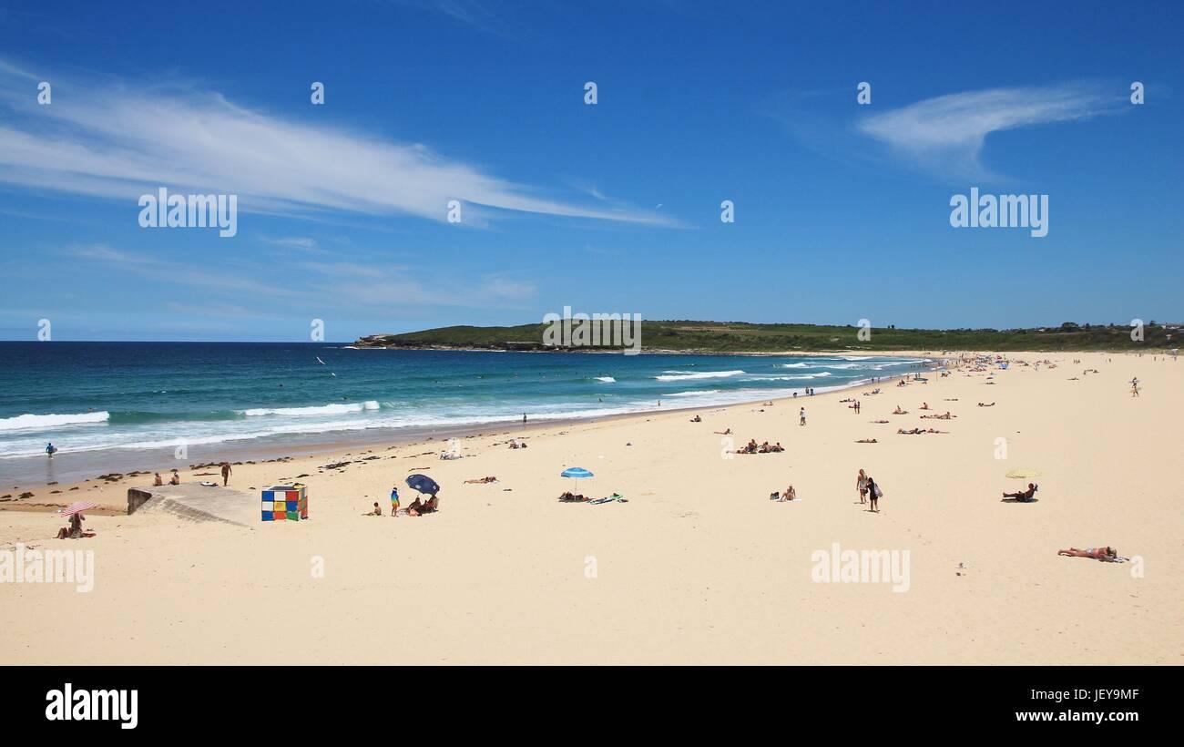 Sunbathe at Maroubra Beach - Stock Image