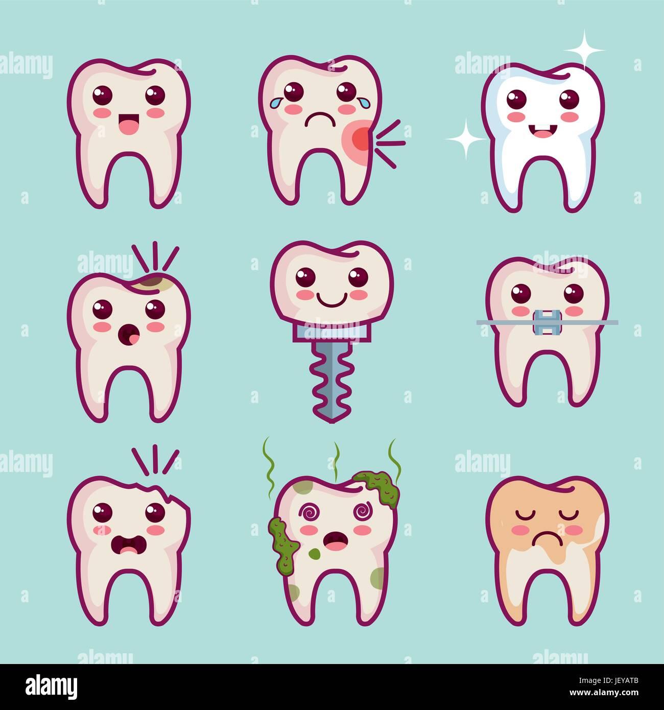 Dental health related design - Stock Image