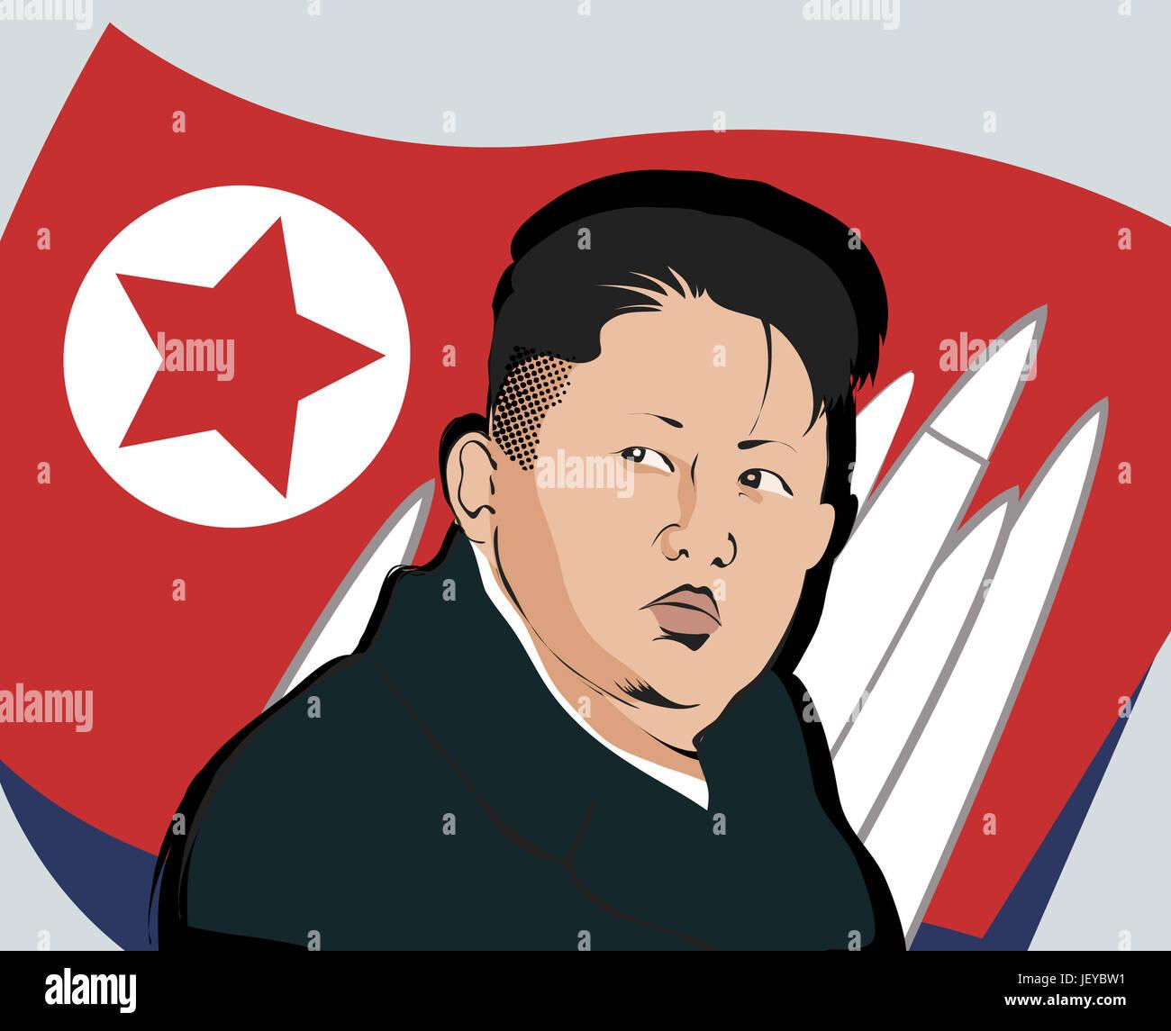 17 April 2017 Kim, Jong-un - Stock Image