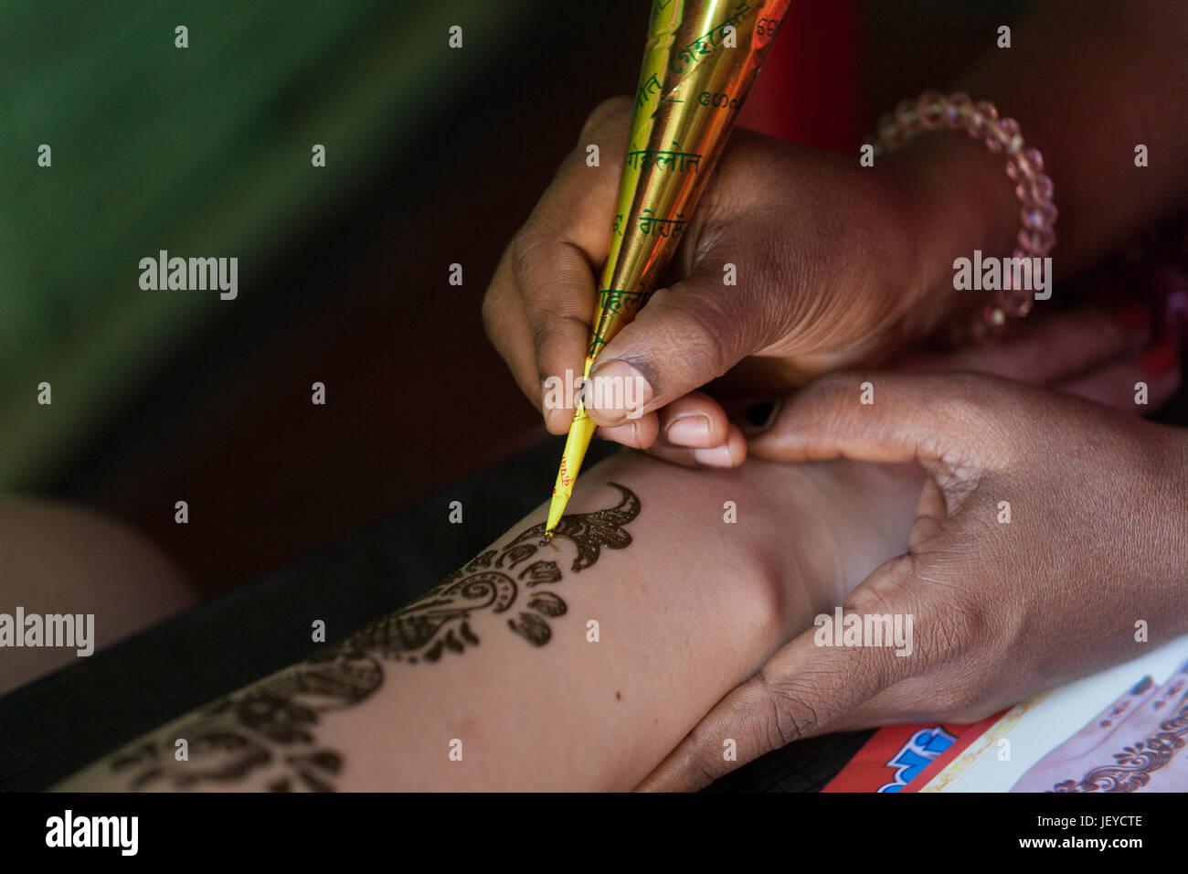 Indian Henna Tattoo Artwork Stock Photos Indian Henna Tattoo
