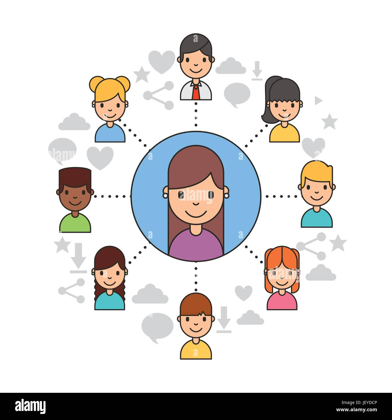 Applications people network - Stock Image