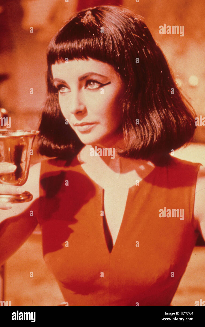 elizabeth taylor, cleopatra, 1963 - Stock Image