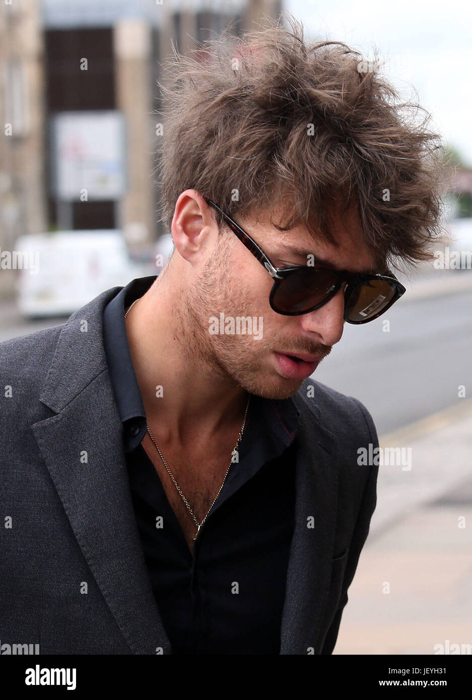 Singer Paolo Nutini arrives at Paisley Sheriff Court where the singer is on trial trial accused of driving under - Stock Image