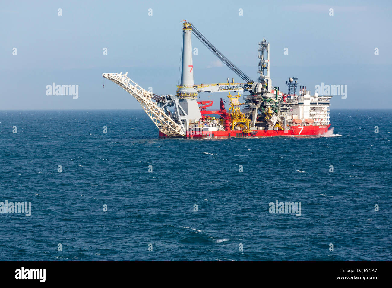The Seven Borealis pipelay and heavy lift vessel and is capable of operating in the worldÕs harshest environments. - Stock Image
