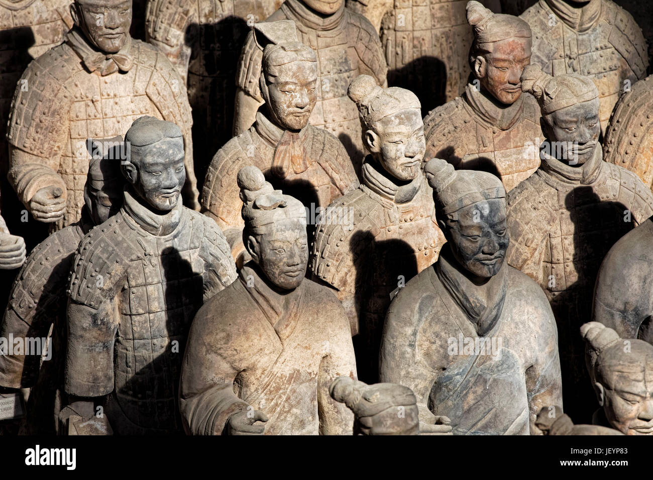 The world famous Terracotta Army, part of the Mausoleum of the First Qin Emperor and a UNESCO World Heritage Site Stock Photo