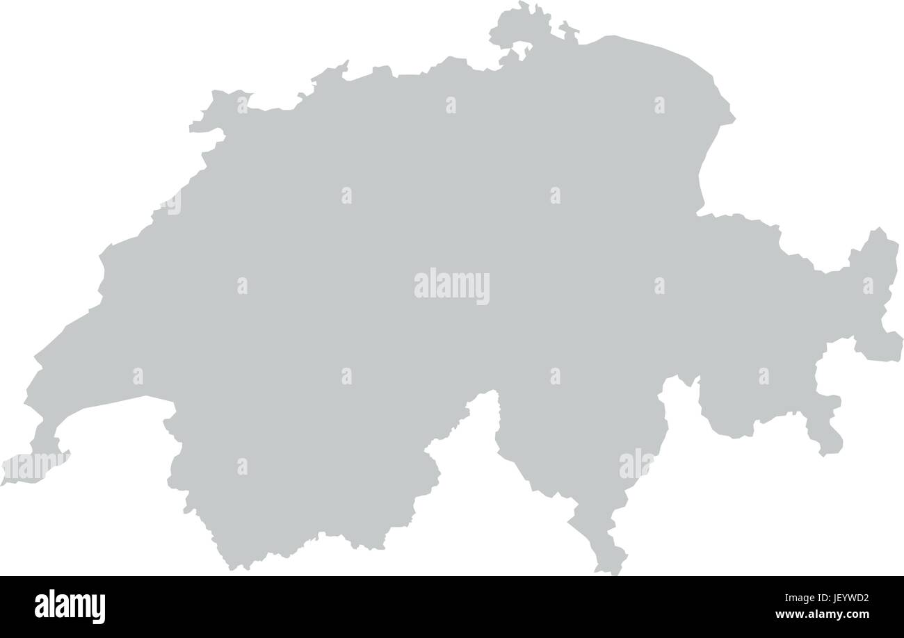 Switzerland Overview Map Atlas Map Of The World Karte Stock