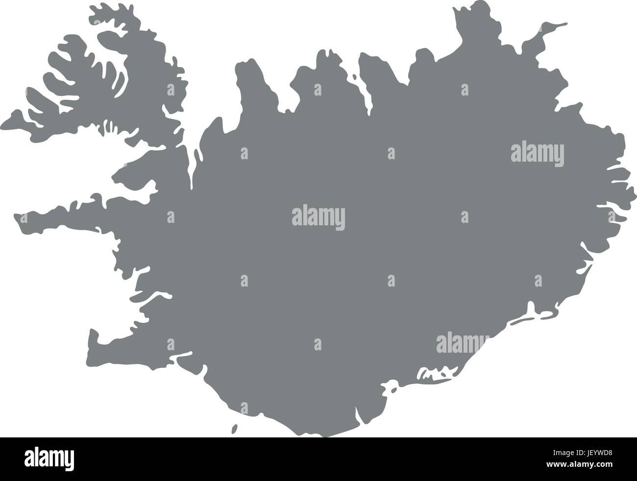 map of iceland karte Stock Vector Art & Illustration, Vector ...