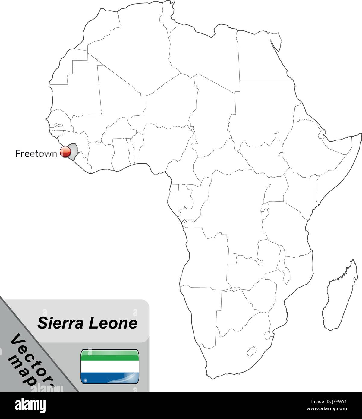 Sierra Leone Map Stock Vector Images - Alamy