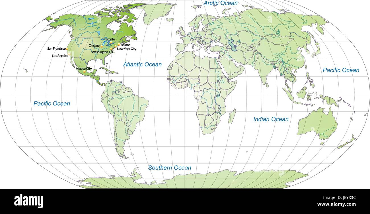 Card atlas map of the world map card outline north america card atlas map of the world map card outline north america globe gumiabroncs Gallery