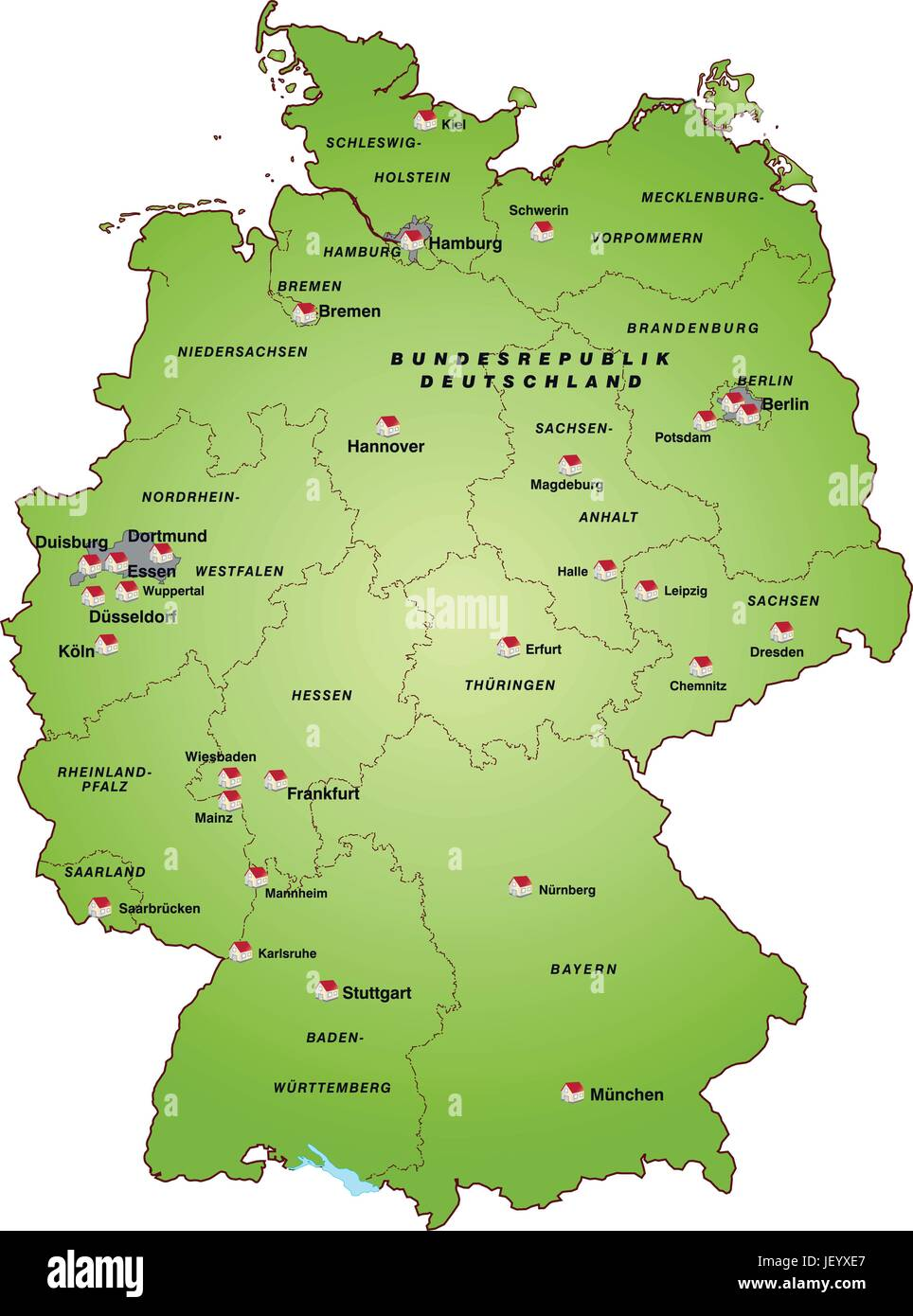 Card State Atlas Map Of The World Map Map Of Germany Germany