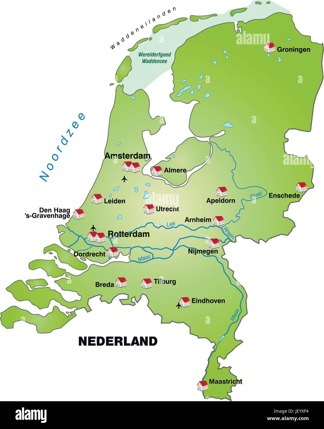 Image of: Netherlands Card Outline Borders Atlas Map Of The World Map Stock Vector Image Art Alamy