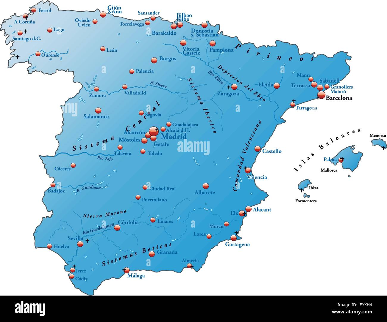 Map Od Spain Stock s & Map Od Spain Stock Alamy