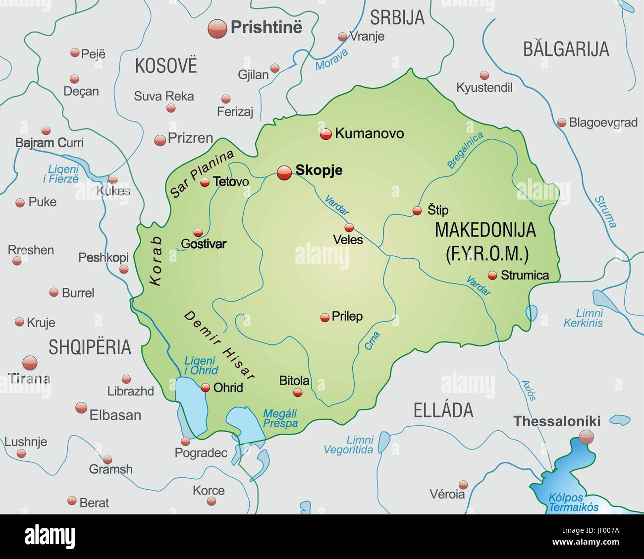 Border Card Synopsis Borders Macedonia Atlas Map Of The World