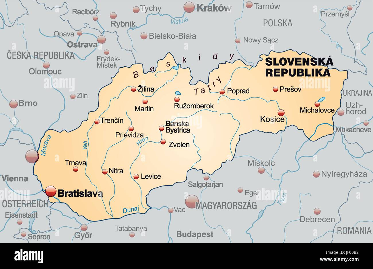 slovakia, border, card, synopsis, borders, atlas, map of the world ...