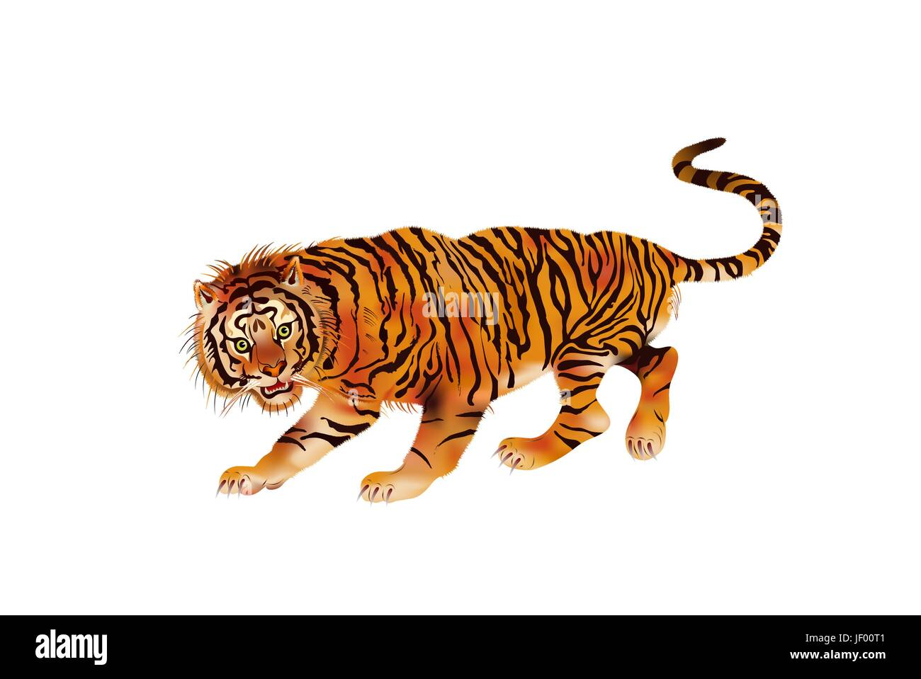 mammal, wild, cat, big cat, feline predator, tiger, energy, power, electricity, - Stock Vector