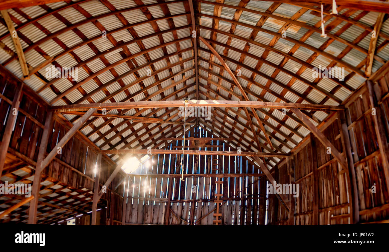 Abandoned Barn Interior Color Image