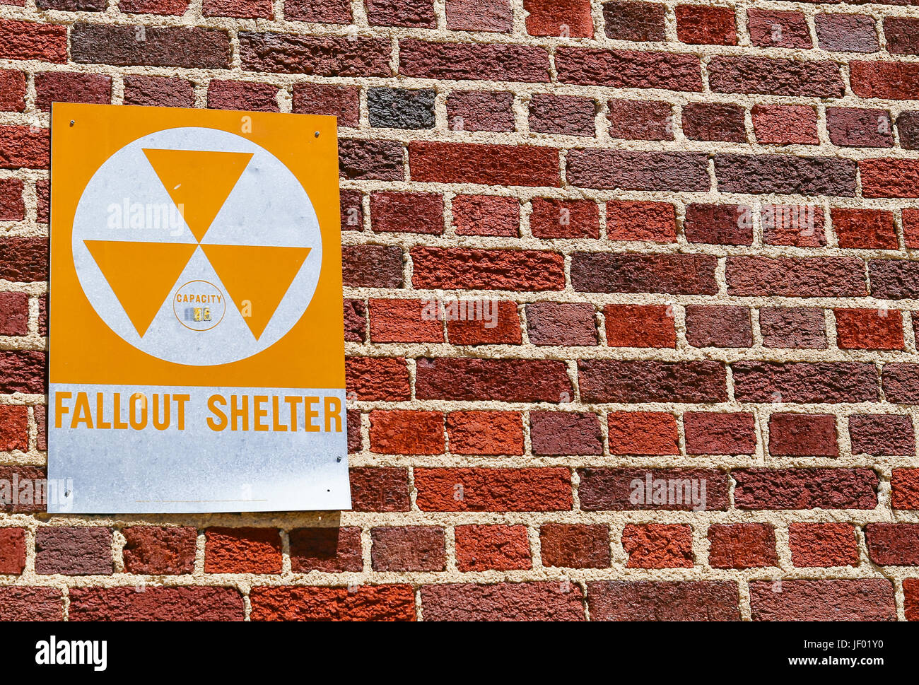 Fallout Shelter in Dodge City Stock Photo