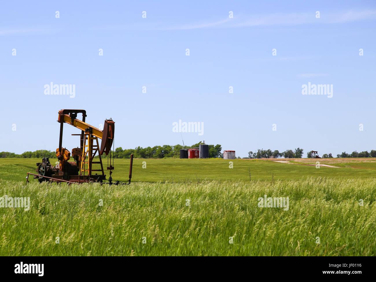Borehole Pumps in Kansas - Stock Image