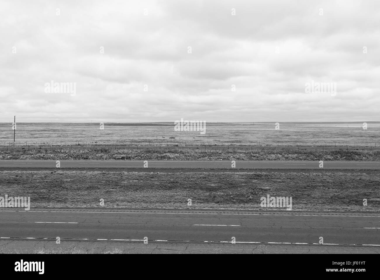 Interstate in Monochrome - Stock Image