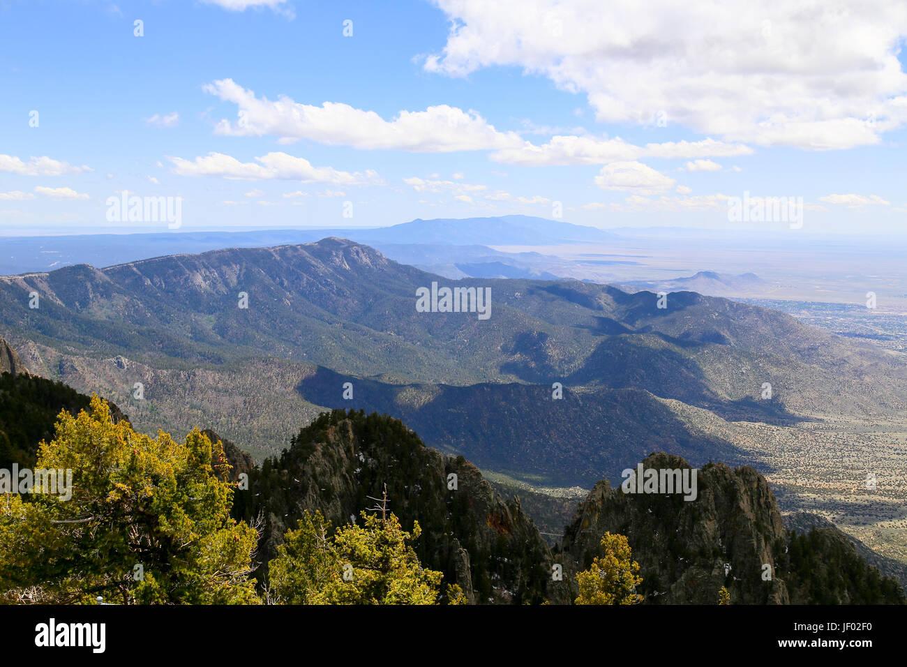 In the Sandia Mountains Stock Photo