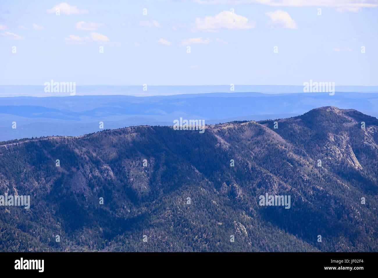 Ridge in the Sandia Mountains Stock Photo