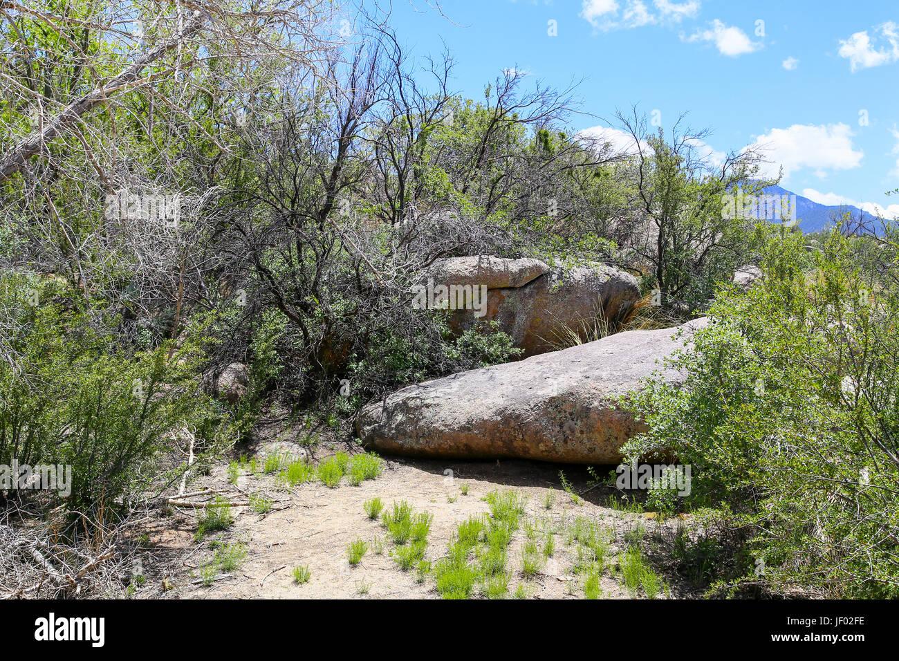 Sandia Mountains Rocks Stock Photo