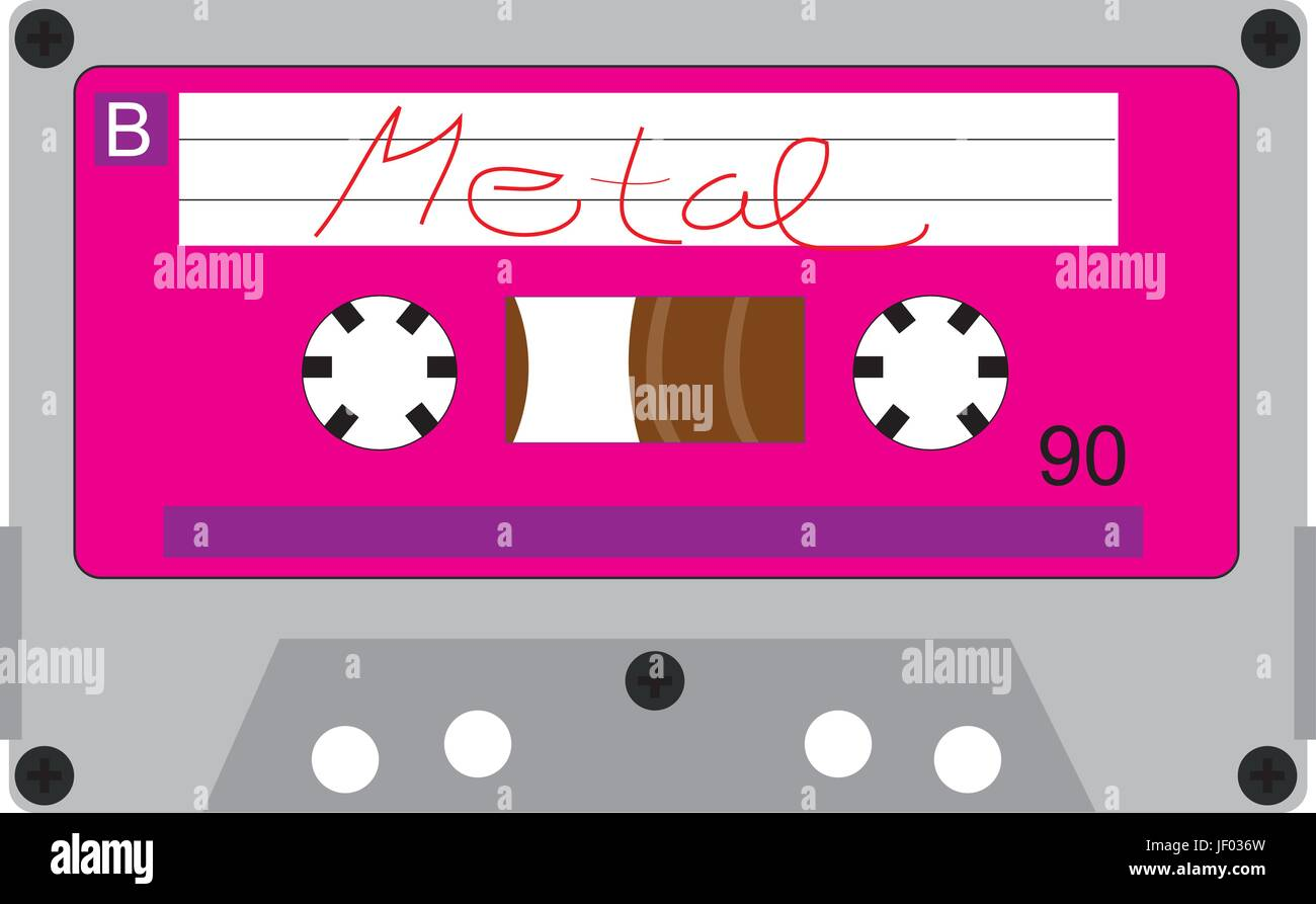 music,retro,caskets,music,retro,eighties,caskets,rock,mc,tape,pop - Stock Vector