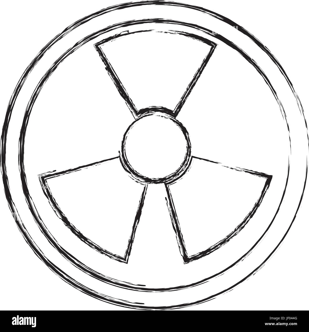 isolated nuclear symbol - Stock Image