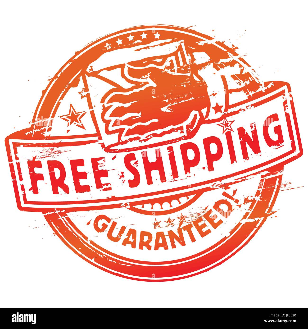 stamp,shipping is free and free shipping - Stock Vector