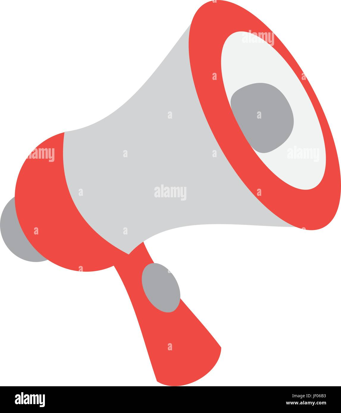 isolated cute megaphone - Stock Vector