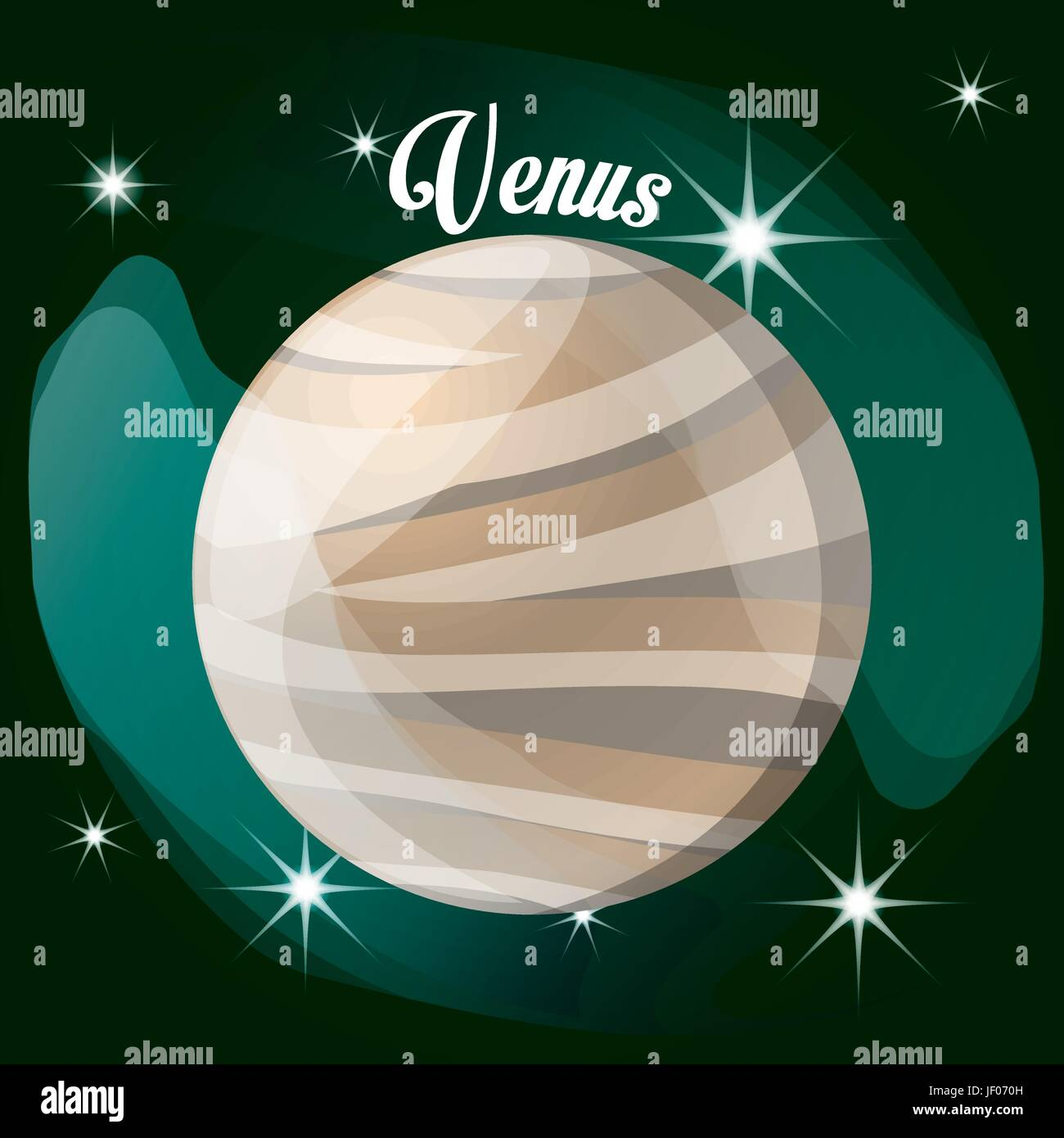 venus planet in the solar system creation - Stock Image