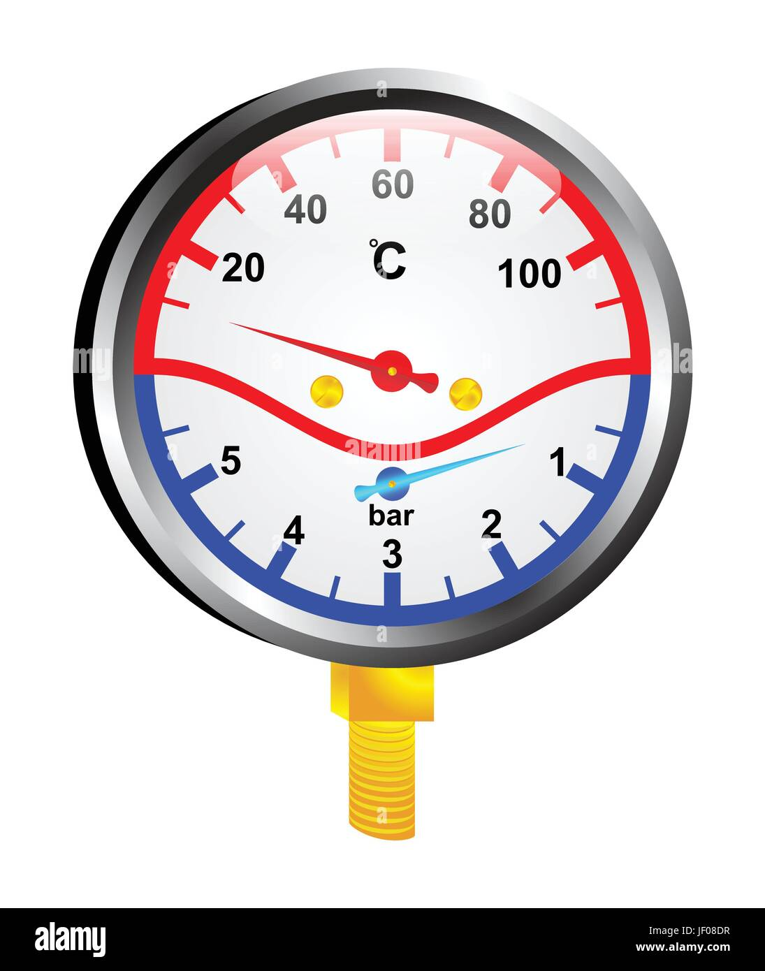 verification, measurement, temperature, installation, indicator, measure, - Stock Vector