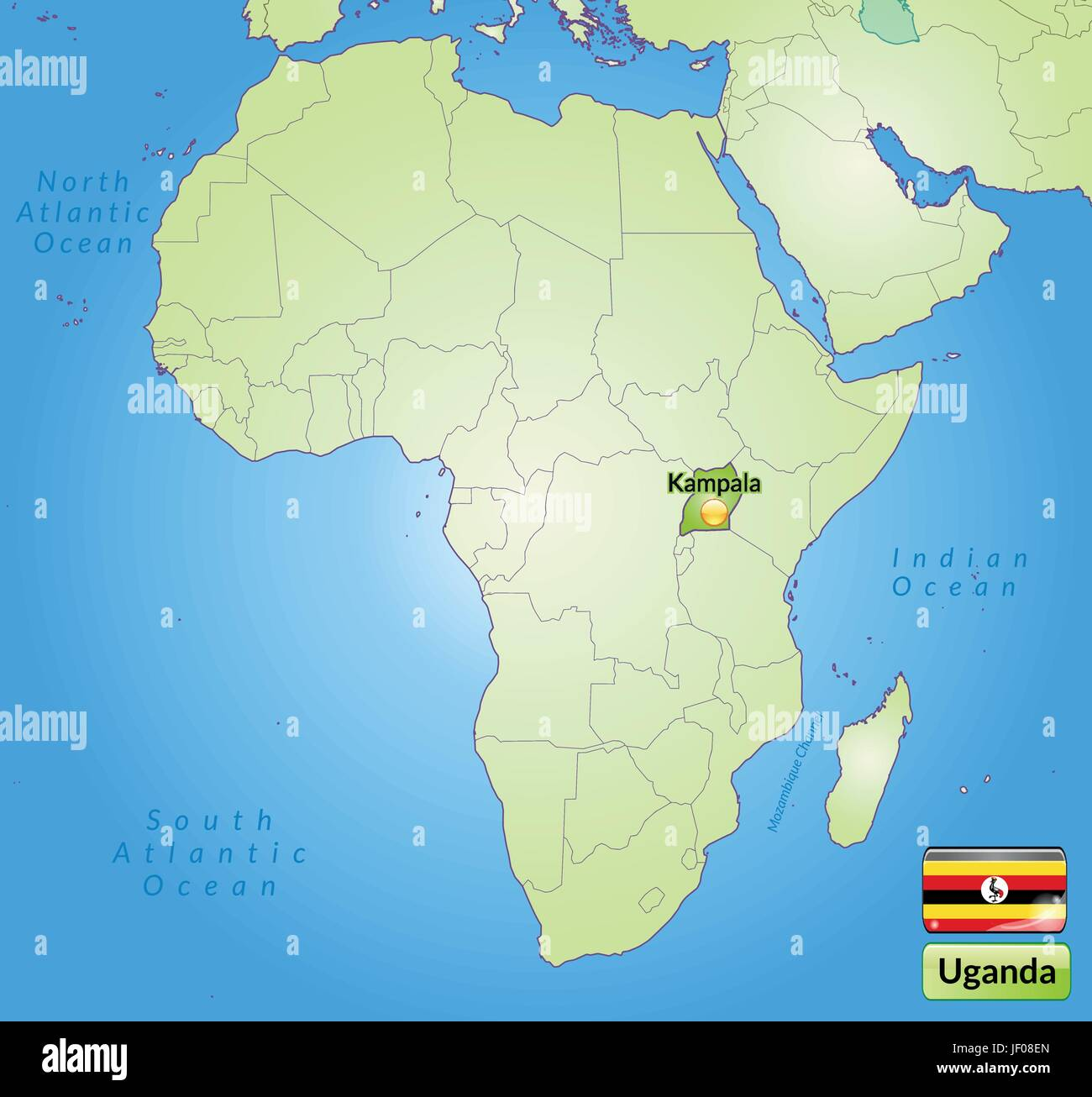 Map Of Uganda Stock Photos & Map Of Uganda Stock Images - Alamy