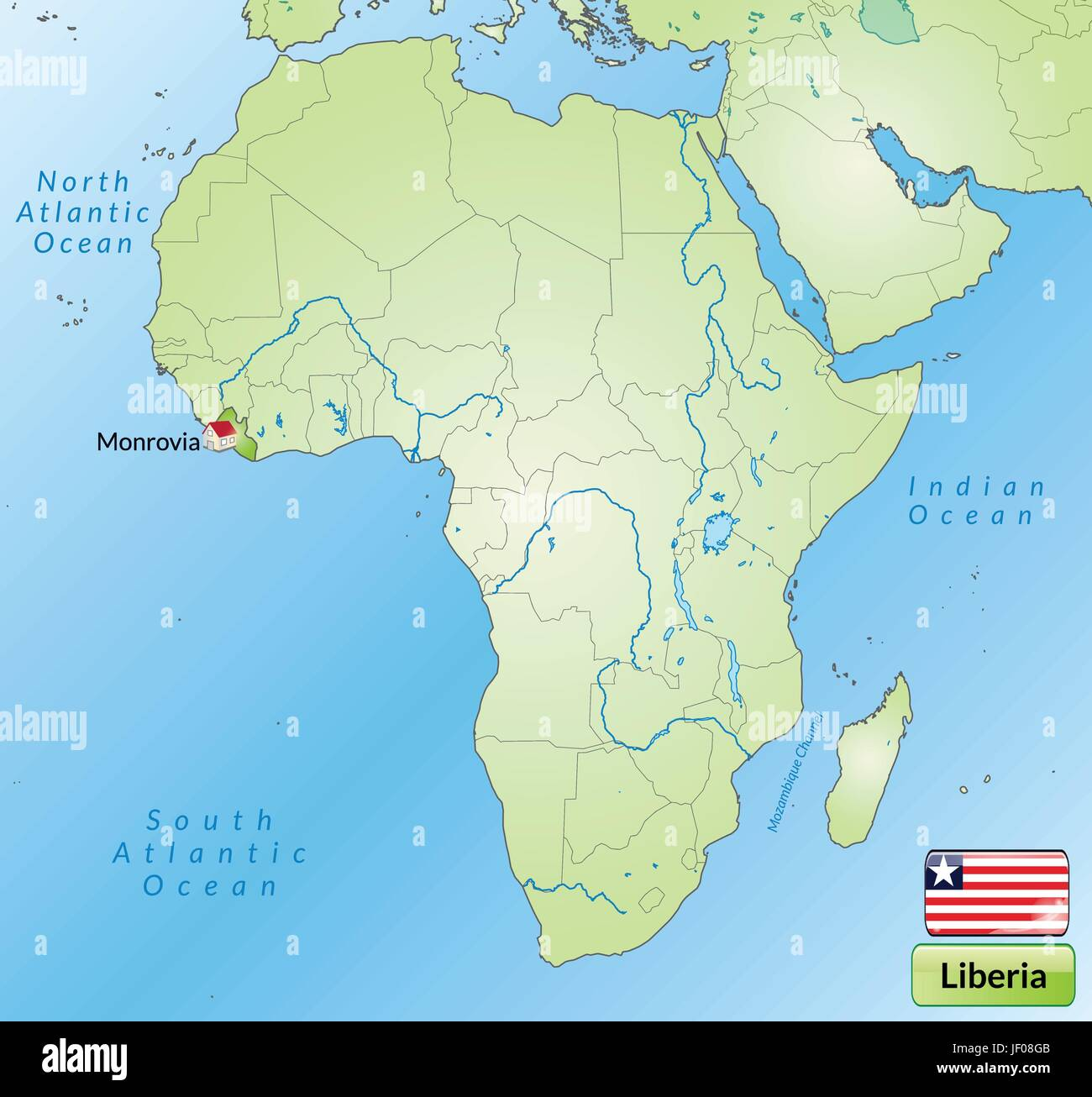 Map Africa Liberia Stock Photos Map Africa Liberia Stock Images