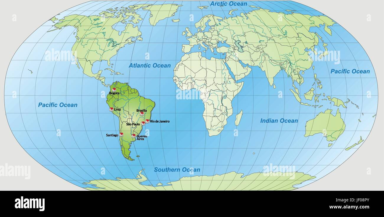Card atlas map of the world map south america card outline card atlas map of the world map south america card outline globe gumiabroncs Images