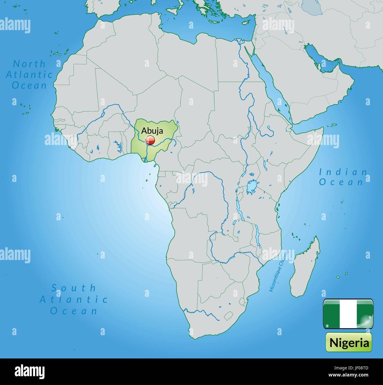 Map Of Nigeria Stock Photos Map Of Nigeria Stock Images Alamy