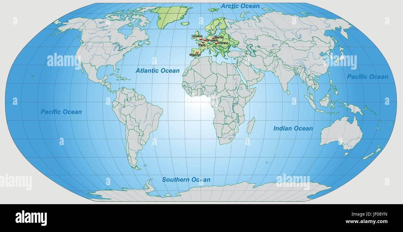 Atlas Globe Map.Card Atlas Map Of The World Map Europe Card Outline Globe