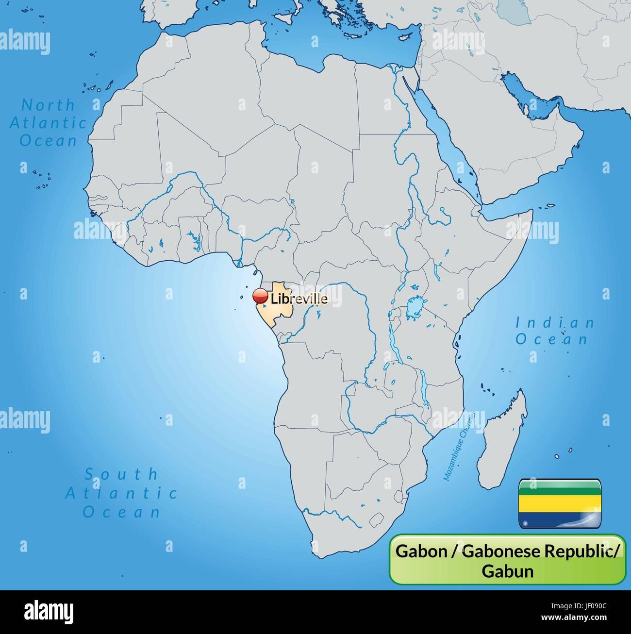 Gabon World Map.Map Of Gabon Stock Photos Map Of Gabon Stock Images Alamy