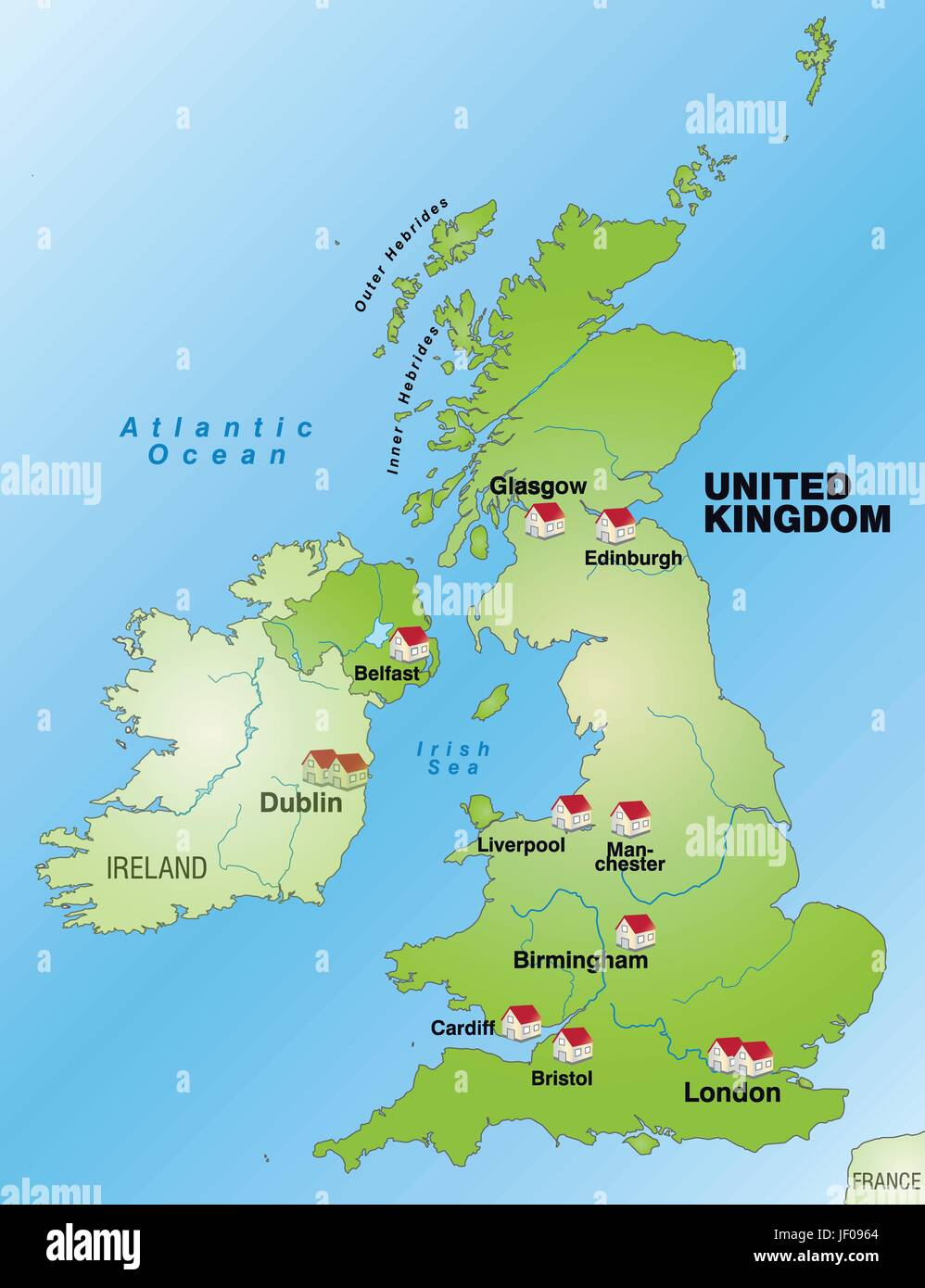 Britain Map Stock Vector Images Alamy
