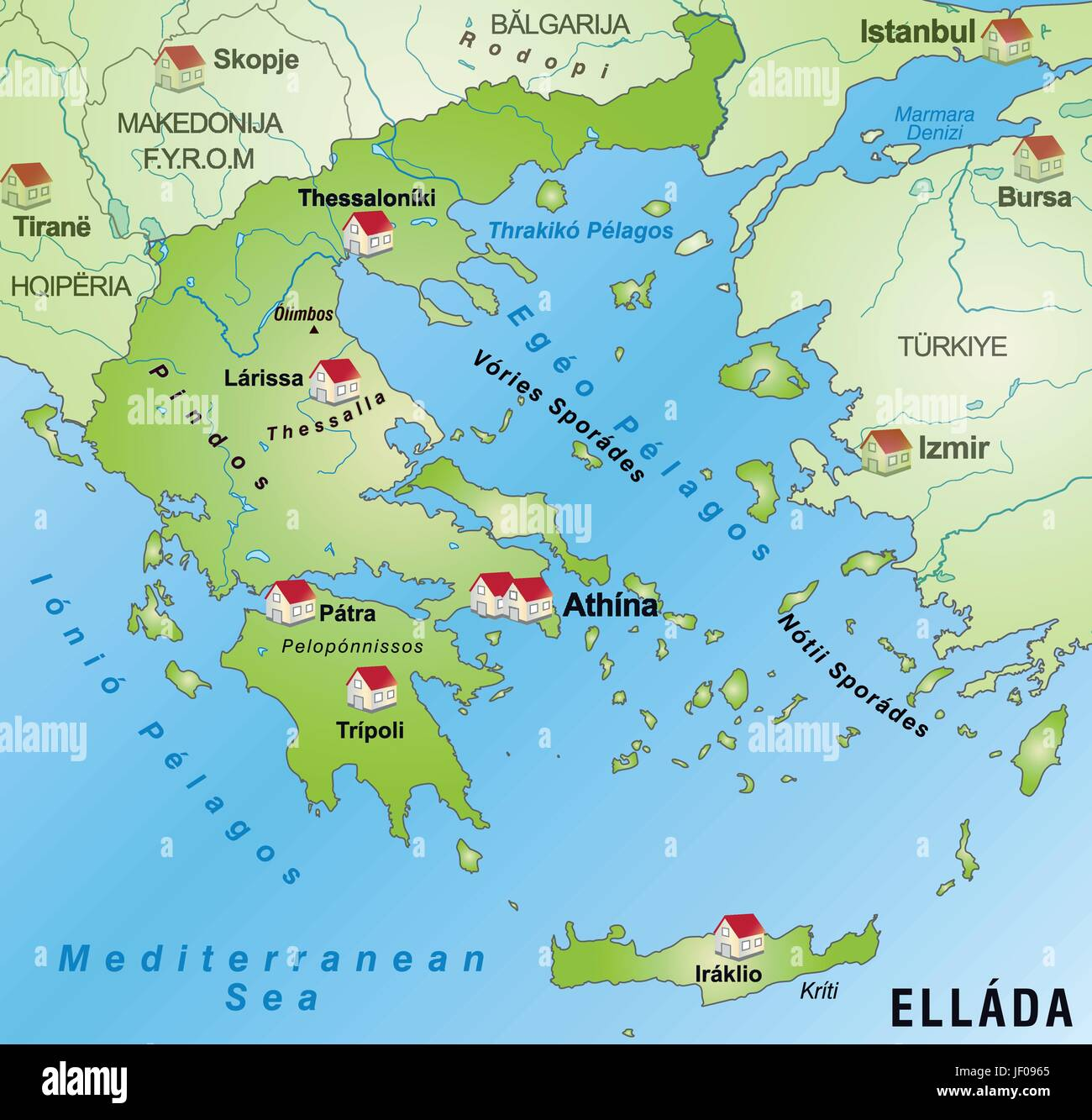 greece, border, card, synopsis, borders, atlas, map of the world ...