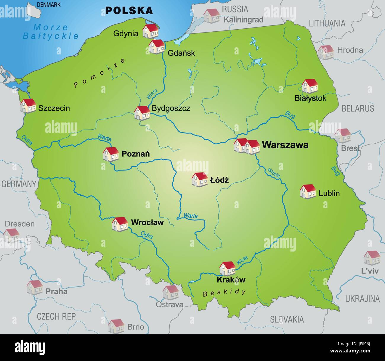 Border Poland Card Synopsis Borders Atlas Map Of The World