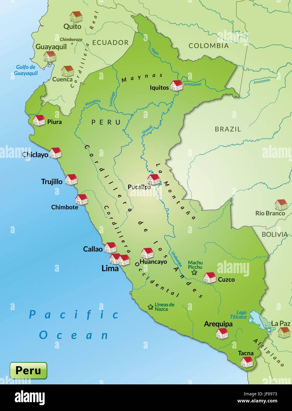 map of peru as infographic in green Stock Vector Art & Illustration ...