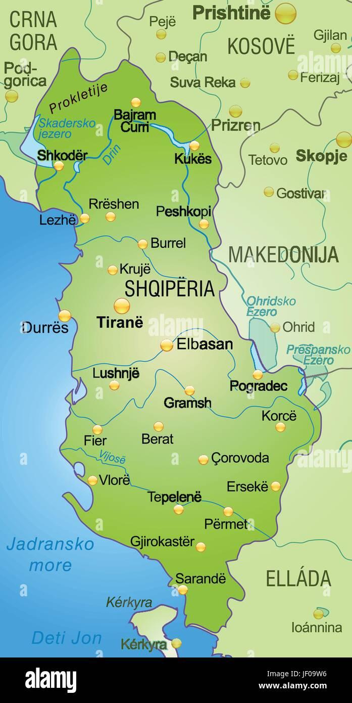 Albania Cartina Stradale.Card Atlas Map Of The World Map Border Card Albania Synopsis Borders Stock Vector Image Art Alamy