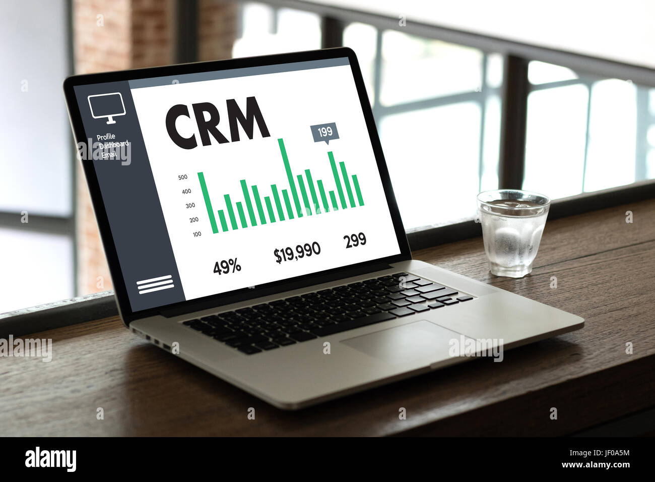 Business Customer CRM Management Analysis Service Concept , Customer relationship management - Stock Image